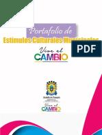 Portafolio de Estímulos Culturales Municipales - Popayán Vive El Cambio 2016_música