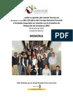 Te invitamos a conocer la Memoria del Taller para recabar la opinión sobre la Iniciativa de Reducción de Emisiones (IRE) del Comité Técnico de Cambio Climático y Bosques.