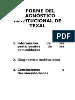 Diagnóstico Institucional de Texal