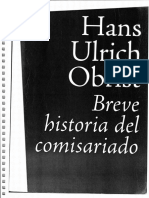 Breve Historia Del Comisariado Hans Ulrich Obrist