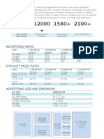 Magazine Ad Rate Card template