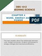 Chapter 4Work Energy & Power