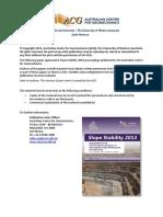 Slope Stability Australia (2013)
