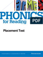 Phonics in Reading - Placement Test