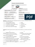 Project Worksheet English 7