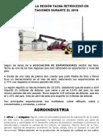 SEGÚN ADEX LA REGIÓN TACNA RETROCEDIÓ EN EXPORTACIONES DURANTE EL 2016.docx