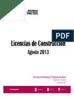 Estadísticas de Edificación Licencias de Construccion - DANE Agosto 2013 Presentacion