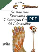 Juan David Nasio - Enseñanza de 7 conceptos cruciales de Psicoanalis