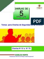Charlas N° 51 a N° 75