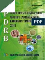Buku PDRB Kabupaten Tambrauw 2011