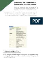 Efectos Secundarios Del Tratamiento Con Antiinflamatorios No Esteroideos
