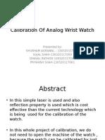 Calibration Of Analog Wrist Watch.pptx