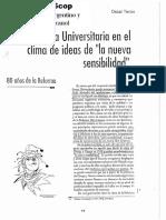 Oscar Terán - La Reforma Universitaria en El Clima de Ideas de La Nueva Sensibilidad