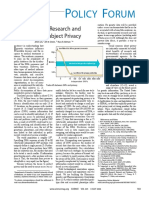 Genomic Research and Human Subject Privacy