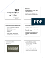 Microscopic Examination of Urine Lecture PPT