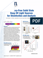 Mercury Free Solid State Uv Led Disinfection and Analysis