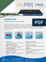 MyPBX U500 Datasheet En