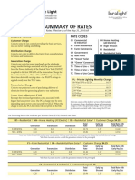 Groton Electric Light 2016 Summary of Rates