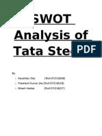 Swot Analysis of Tata Steel