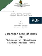 metal stud partition presentation