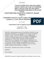 Hartford Fire Insurance Company v. Carteret County, North Carolina Bivens Architectural Group, P.A. Carl S. Bivens, 89 F.3d 828, 4th Cir. (1996)