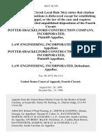 Potter-Shackelford Construction Company, Incorporated v. Law Engineering, Incorporated, Potter-Shackelford Construction Company, Incorporated v. Law Engineering, Incorporated, 104 F.3d 359, 4th Cir. (1996)