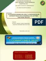 La Situacion Economica Del Peru y La Participacion Del Contador Publico en El Desarrollo de Las Pymes.caso Tacna.2016