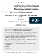 John E. Walton v. Wal-Mart Stores, Incorporated, 108 F.3d 1375, 4th Cir. (1997)