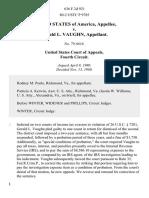 United States v. Gerald L. Vaughn, 636 F.2d 921, 4th Cir. (1980)