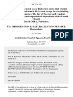 David Cole v. U.S. Immigration & Naturalization Service, 106 F.3d 389, 4th Cir. (1997)