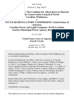 Wells Eddleman the Coalition for Alternatives to Shearon Harris the Conservation Council of North Carolina v. Nuclear Regulatory Commission United States of America Carolina Power and Light Company North Carolina Eastern Municipal Power Agency, 825 F.2d 46, 4th Cir. (1987)