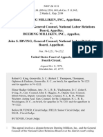 Deering Milliken, Inc. v. John S. Irving, General Counsel, National Labor Relations Board, Deering Milliken, Inc. v. John S. Irving, General Counsel, National Labor Relations Board, 548 F.2d 1131, 4th Cir. (1977)