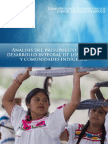 Análisis Completo del Presupuesto Indígena 2015 para el Desarrollo de Los Pueblos y Comunidades Indígenas