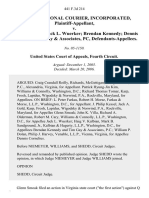 Q International Courier, Incorporated v. Glenn Smoak Jack L. Wuerker Brendan Kennedy Dennis Cornelius Tim Gay & Associates, Pc, 441 F.3d 214, 4th Cir. (2006)