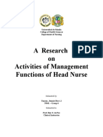 Activities of Management Functions of Head Nurse