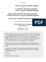 United States v. Brian Ashley Martin, United States of America v. Brian Ashley Martin, United States of America v. Brian Ashley Martin, 25 F.3d 211, 4th Cir. (1994)