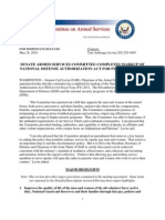 FY11 NDAA  Markup Press Release