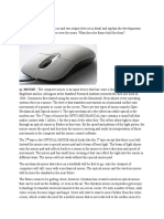 Describe any two input devices and two output devices in detail and explain the developments that occurred on these devices over the years.docx