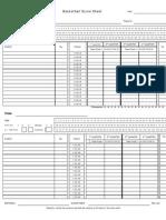 Basketball Score Sheet Form