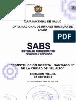 Dbc Hospital Santiago II Borrador Compras