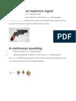 A Gun or Other Explosive Signal