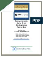 Reconocimiento - Caras de Las Biociencias en Puerto Rico Portada [2B]