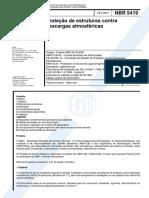 NBR 5419 de 2000 - Proteção contra Descargas Atmosféricas.pdf