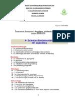 Programme Residanat 2016
