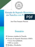 Geração de Segundo Harmônico Em Nanofios Com Politipismo