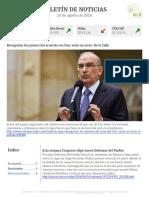 Boletín de noticias KLR 16AGO2016
