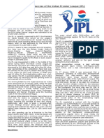Commercial Success of the Indian Premier League (IPL)