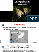 superficies planas sumergidas - hidrostatica II