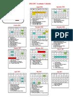 school calendar 2016-2017