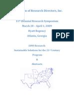 15th BiennialARD Symposium Proceedings